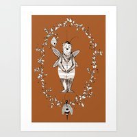 Bee Bear Art Print