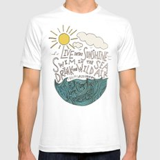 Emerson: Live in the Sunshine Mens Fitted Tee White SMALL