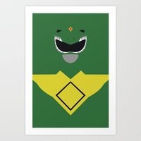 Power Rangers - Green Ranger Minimalist Art Print