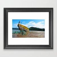 Jetty Boating Framed Art Print