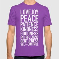Fruits Of The Spirit Mens Fitted Tee Ultraviolet SMALL