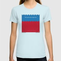 No046 My Jaws minimal movie poster Womens Fitted Tee Light Blue SMALL