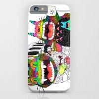Totoro fan art (cat bus) by Luna Portnoi iPhone 6 Slim Case