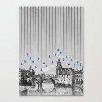 La Lluvia En Bilbao Es U… Canvas Print