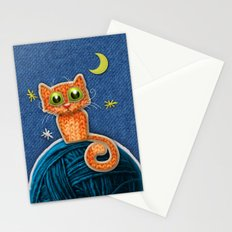 Fabric Cat Stationery Cards