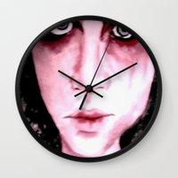 Blue Grey Eyes Wall Clock