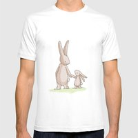 Bunny Love Mens Fitted Tee White SMALL