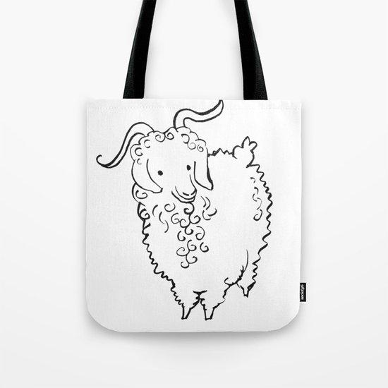 Angora Goat Tote Bag