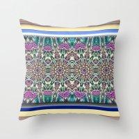 An Indian Garden Throw Pillow