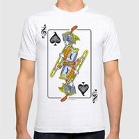 Musical Poker / Trombone Mens Fitted Tee Ash Grey SMALL