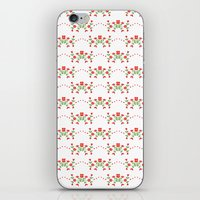 Small floral kitchen collection white iPhone & iPod Skin