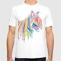 ZebrArt Mens Fitted Tee White SMALL