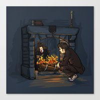 The Witch in the Fireplace Canvas Print