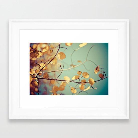golden aspen Framed Art Print