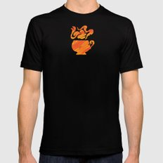 Mate Tea, Yellow on Yellow Black Mens Fitted Tee SMALL
