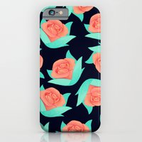 Pink Rose Floral Pattern iPhone 6 Slim Case