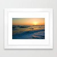 Ocean Sunset 1 Framed Art Print
