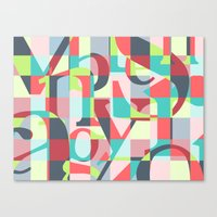 Colorful Language  Canvas Print