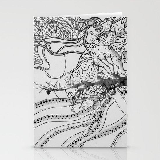 Magic Force / Original A4 Illustration / Pen & Ink Stationery Card