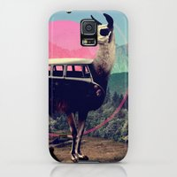 Galaxy S5 Cases featuring Llama by Ali GULEC