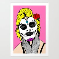 Dia De Los Marilyn En COLOR! Art Print