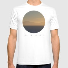 Lost In The Haze SMALL White Mens Fitted Tee