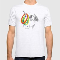 unicorn game Mens Fitted Tee Ash Grey SMALL