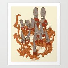 Musical saws Art Print