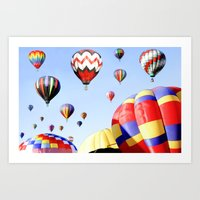 Balloons In The Sky - Pa… Art Print