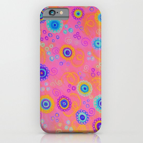RASPBERRY FIZZ - Sweet Pink Fruity Candy Swirls Abstract Watercolor Painting Bright Feminine Art iPhone & iPod Case