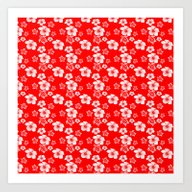 Red And White Turtles Ha… Art Print