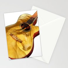 The guitar is a lady Stationery Cards