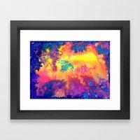 deep space - tie dye watercolor abstract Framed Art Print