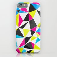 iPhone & iPod Case featuring watercolor geometry CMYK by ravynka