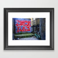 End Of The Alley Framed Art Print