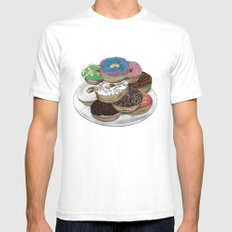 Donuts White SMALL Mens Fitted Tee