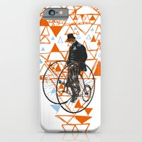 iPhone & iPod Case featuring Bicycle Gent by Created Crafted Found