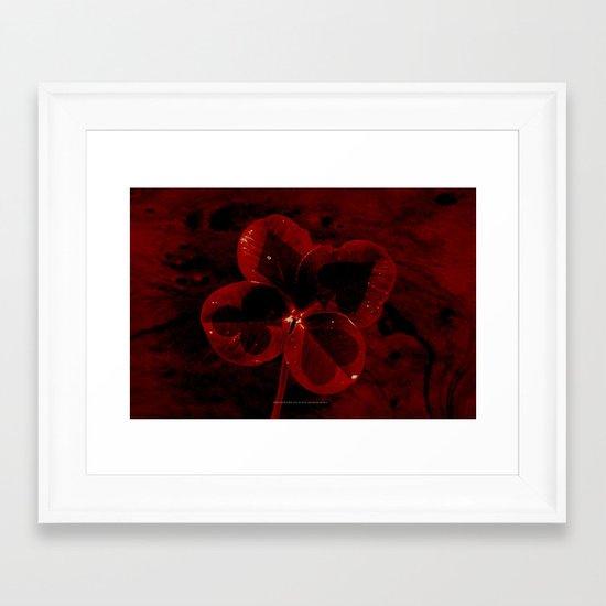 MAKE YOUR OWN LUCK 035 Framed Art Print