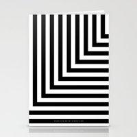 Black and White L Stripes // www.pencilmeinstationery.com Stationery Cards