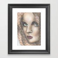 Chevron Ladies Framed Art Print