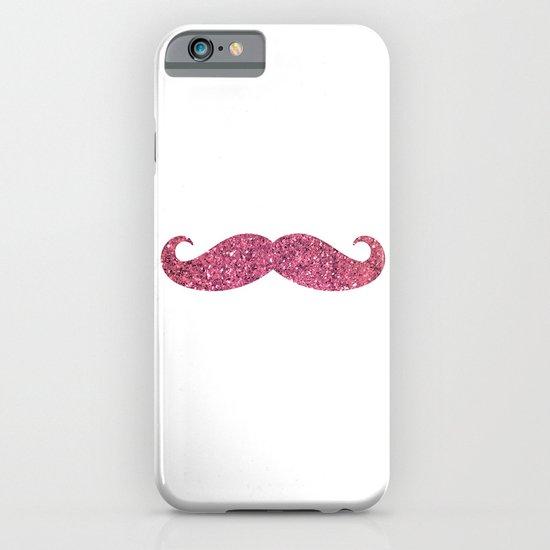 PINK GLITTER MUSTACHE iPhone & iPod Case