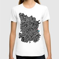 ABC Dream Womens Fitted Tee White SMALL