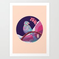 bird in colors Art Print