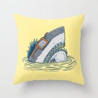 The Nerd Shark Throw Pillow