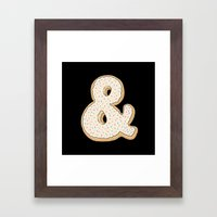 Ampersandonut Framed Art Print