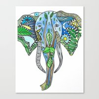 Tatoo Elephant Canvas Print