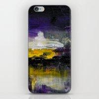 Purple Abstract Landscap… iPhone & iPod Skin