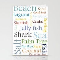 Beach Theme Stationery Cards