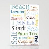 Beach Theme Stationery Cards