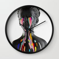The Girl With Stars In Her Eyes (White Background) Wall Clock